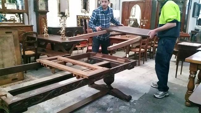 demontaż stołu