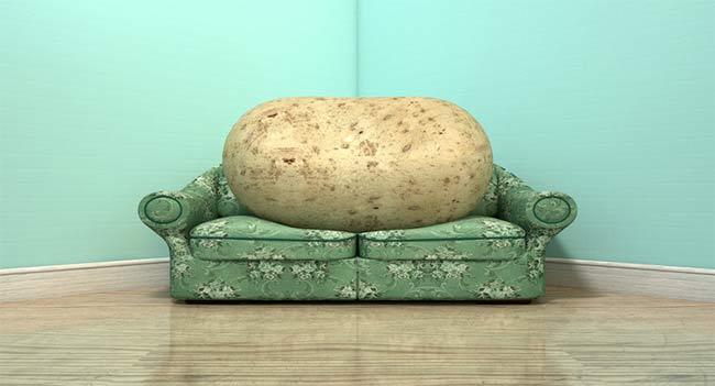 przesunięcie pralki przez ziemniaka