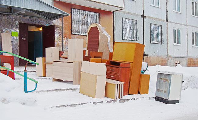 pudełka w zimie