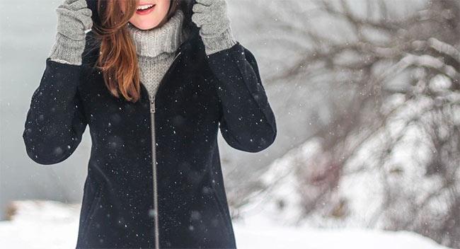 zimowe ubrania, płaszcz